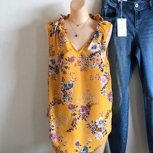 Torrid yellow floral design top